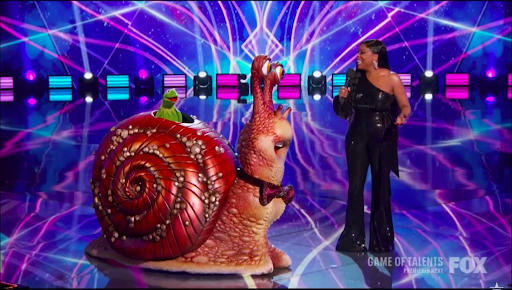 Screenshot of video showing Kermit the Frog being revealed as the Snail from March 11, 2021. | Source: YouTube: Talent Recap
