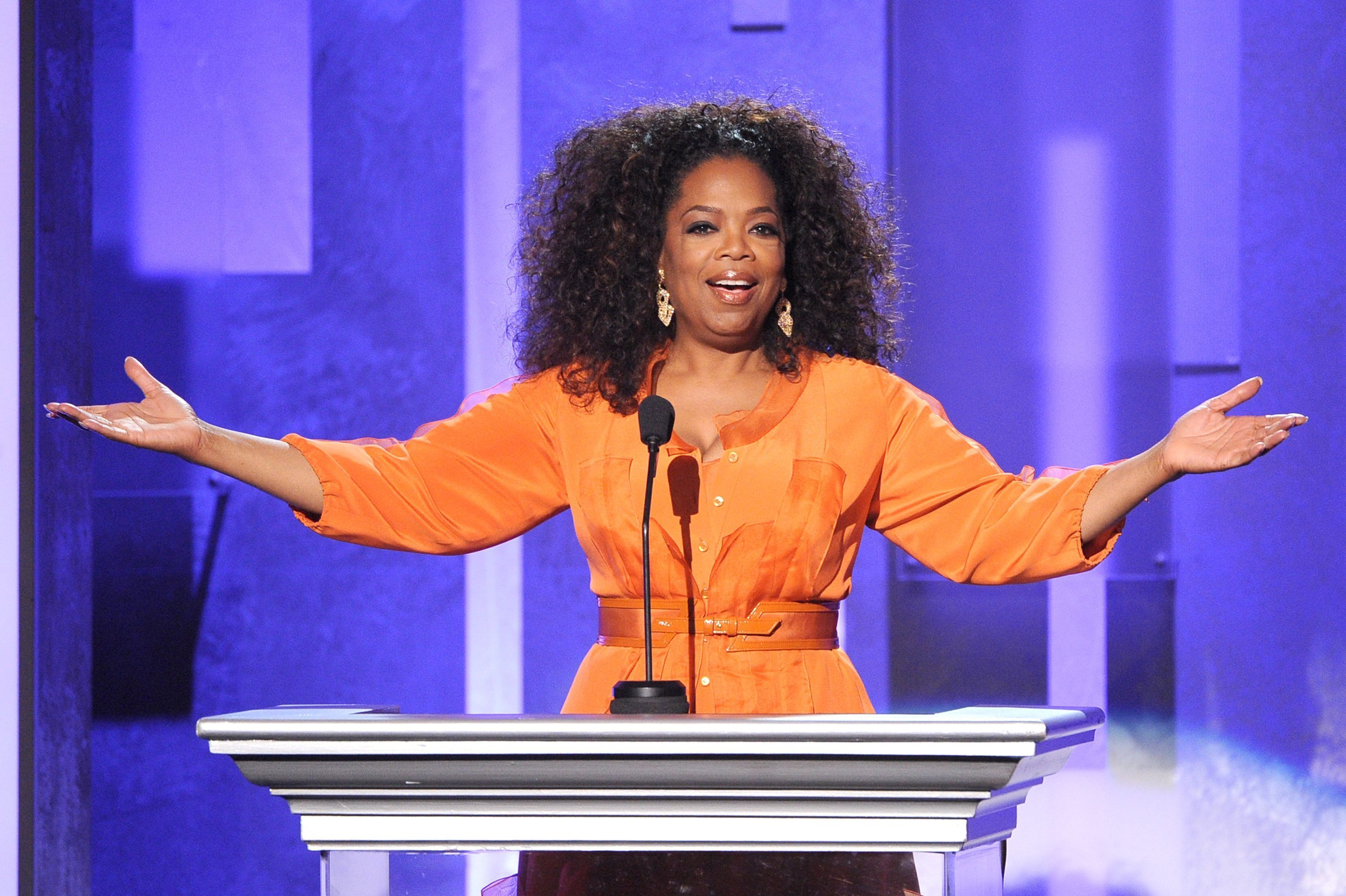 Oprah Winfrey speaks onstage during the 45th NAACP Image Awards presented by TV One at Pasadena Civic Auditorium on February 22, 2014. | Source: Getty Images