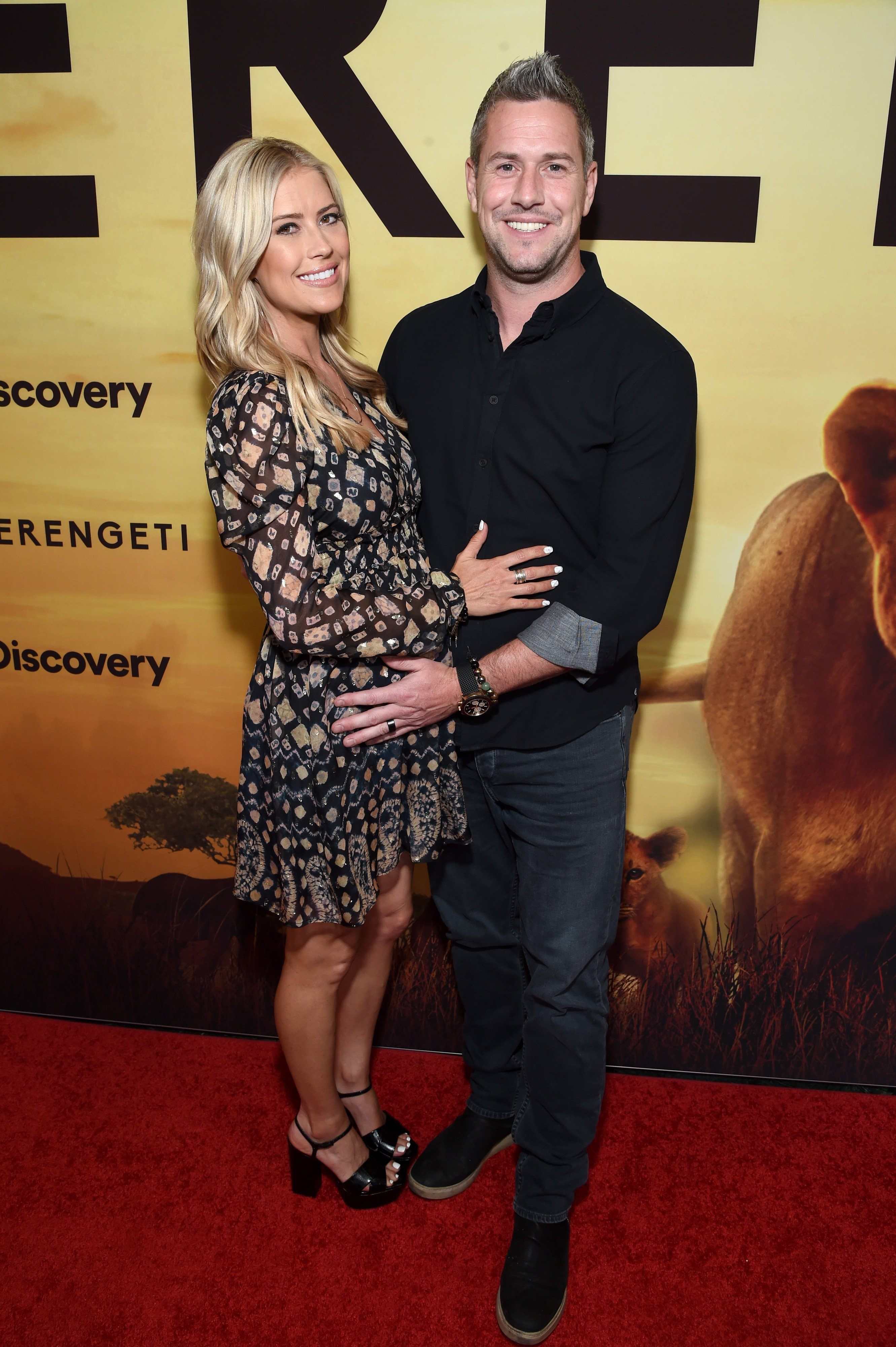 """Christina Anstead and her husband, Ant at the Premiere of the movie, """"Serengeti"""" 