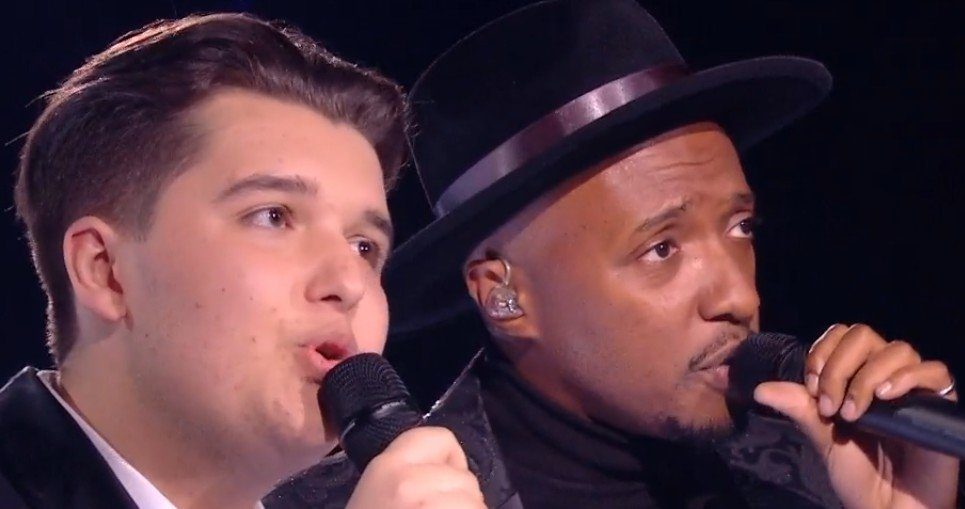Philippe et Soprano durant leur duo. l Source : TF1 Replay