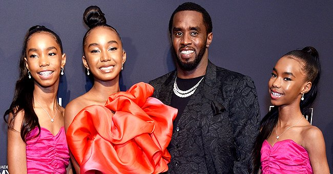 Diddy's Twin Daughters D'Lila & Jessie Show Natural Beauty in Matching Colorful Tops & Skirts
