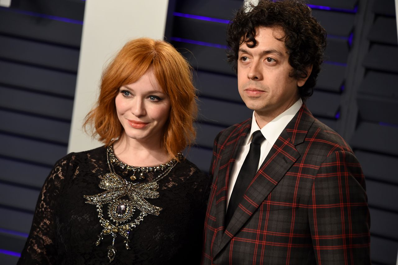 Christina Hendricks and Geoffrey Arend at the 2019 Vanity Fair Oscar Party on February 24, 2019 in Beverly Hills, California | Photo: Getty Images