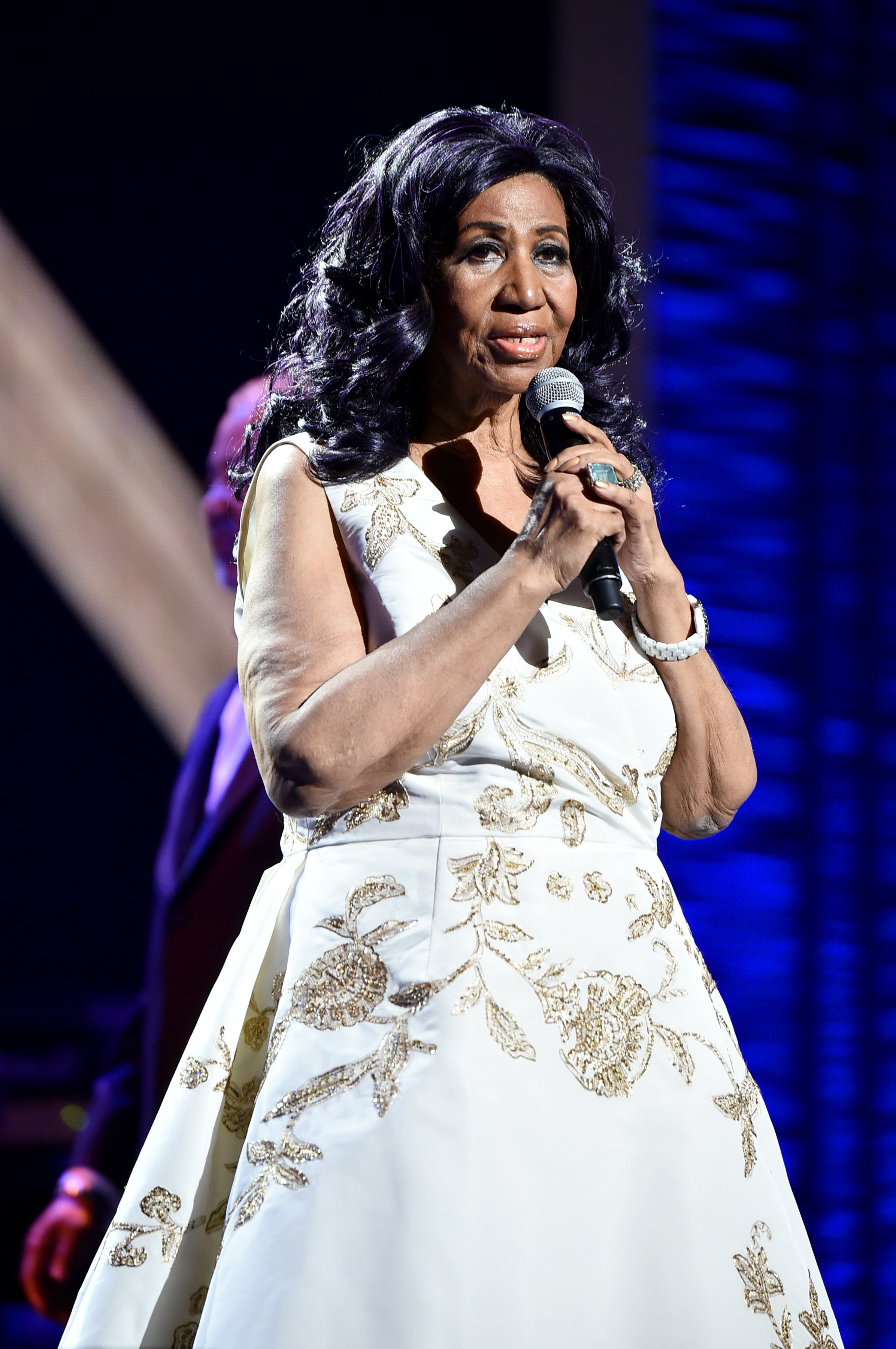 Aretha Franklin performs onstage during the Tribeca Film Festival on April 19, 2017, in New York City. | Source: Getty Images.