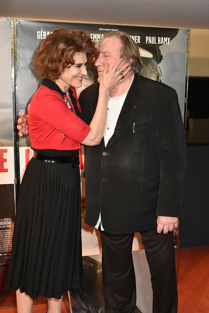 Fanny Ardant et Gerard Depardieu le 10 janvier 2017 à Paris, France. | Photo : Getty Images.