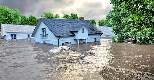 Daily Joke: Silver-Haired Elderly Lady Discovers the River Is Flooding Her House