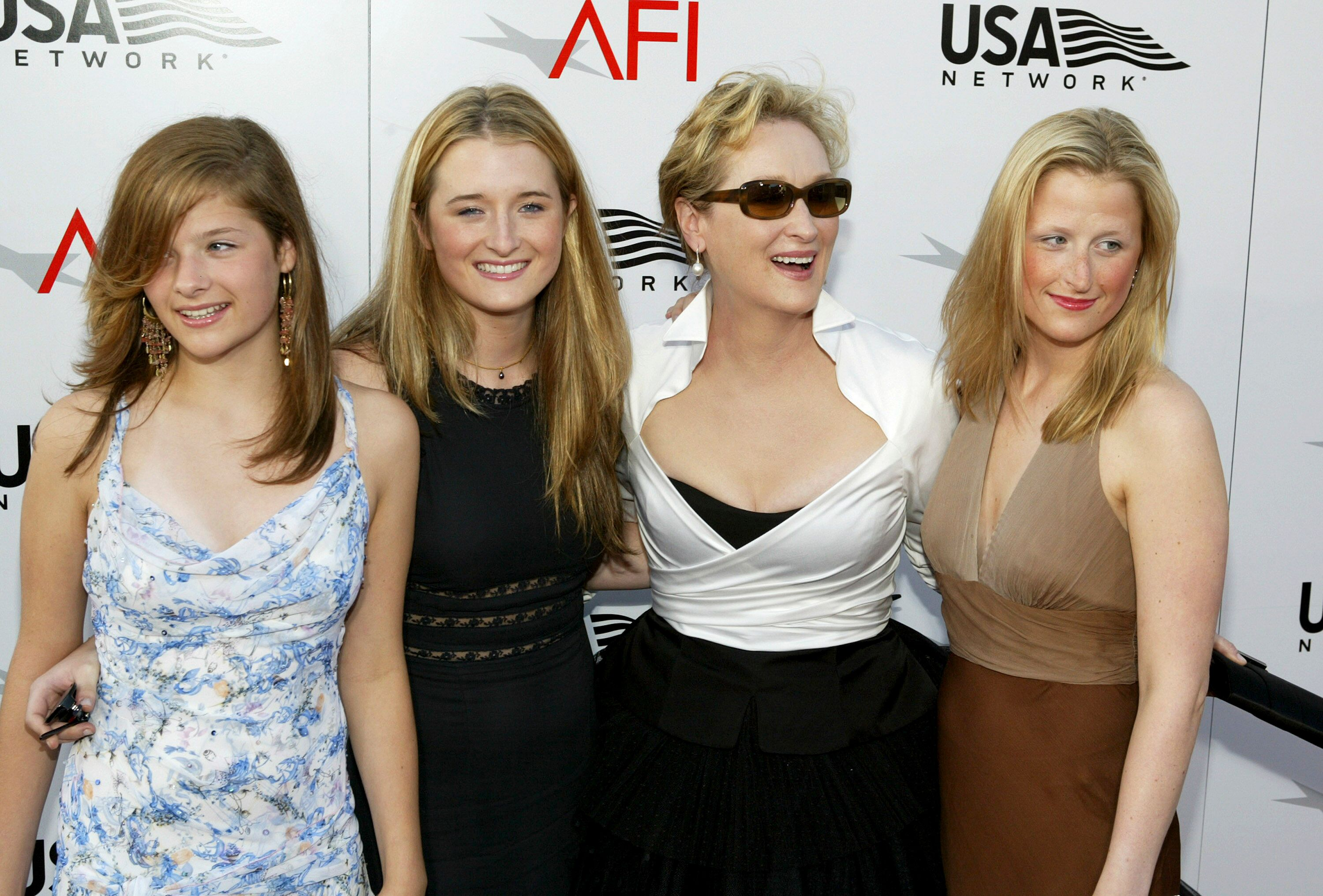 Meryl Streep and her daughters attend the 32nd Annual AFI Life Achievement Award.   Source: Getty Images
