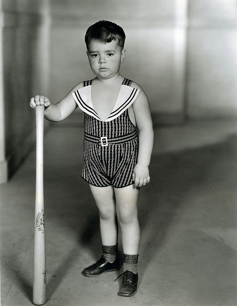 """George McFarland as Spanky in """"THE LITTLE RASCALS,"""" originally know as """"Our Gang."""" Image dated 1933. 