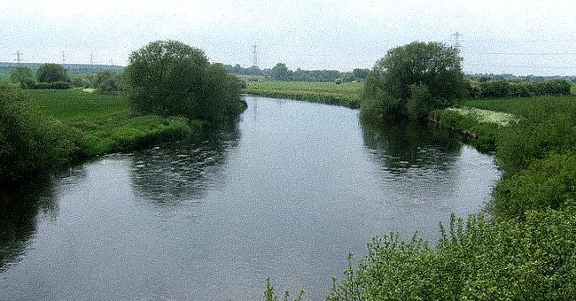 A flowing river surrounded by lush greenery   Photo: Wikimedia/John M