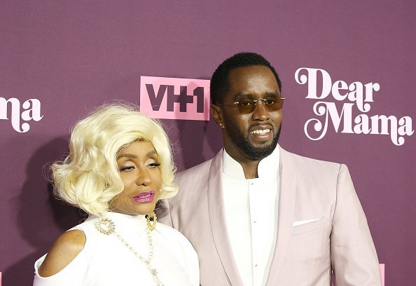 """Sean Combs and his mom, Janice Combs at  VH1's 3rd Annual """"Dear Mama: A Love Letter To Moms"""" held at The Theatre in Los Angeles, California.