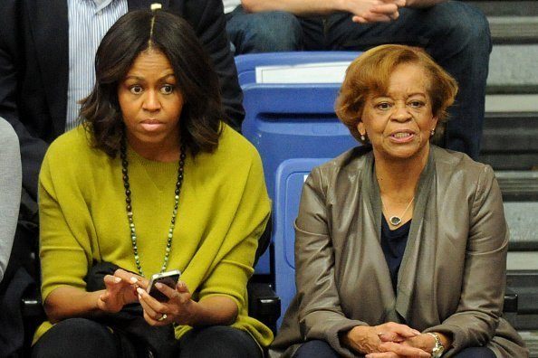 Michelle Obama and Marian Robinson at Bender Arena on November 23, 2014, in Washington, DC.| Photo: Getty Images