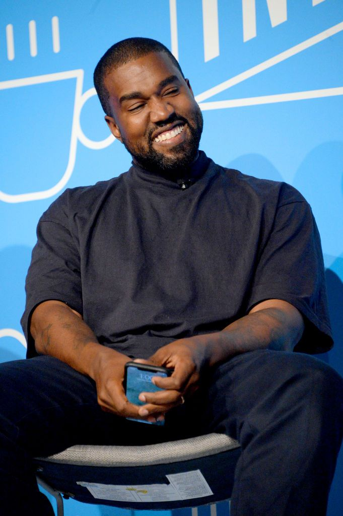 """Kanye West at the """"Kanye West and Steven Smith in Conversation with Mark Wilson"""" on November 7, 2019, in New York City 