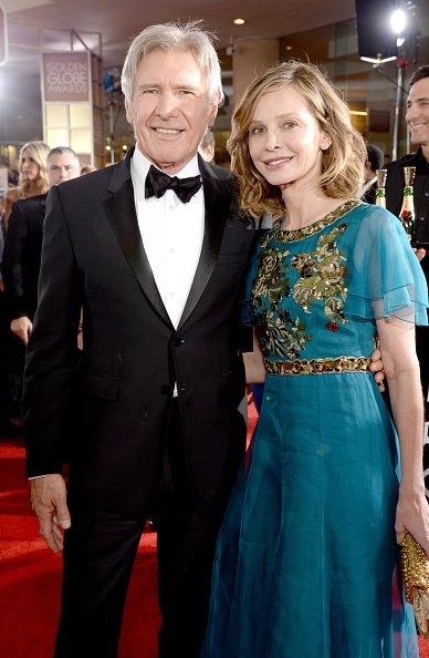 Harrison Ford et Calista Flockhart à l'hôtel Beverly Hilton le 10 janvier 2016 à Beverly Hills, Californie. | Photo : Getty Images