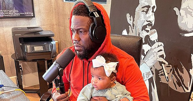 Kevin Hart's Baby Kaori Sits on His Lap as He Jokes about Her Learning the Family Business