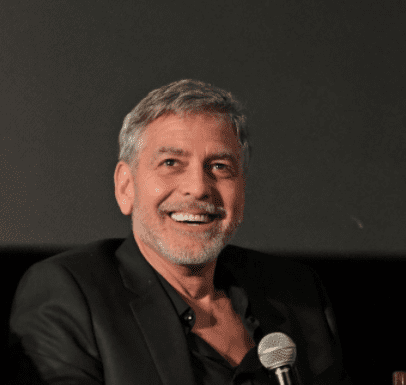 """George Clooney attends the London Premiere of new Channel 4 show """"Catch-22"""", based on Joseph Heller's novel of the same name, at Vue Westfield on May 15, 2019 in London, England. 