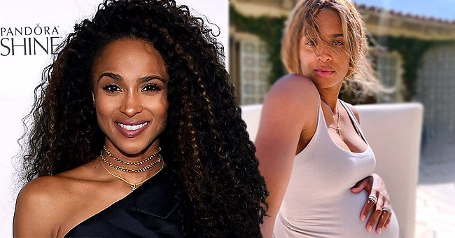 Ciara Shows Shows off Her Growing Baby Bump Wearing White Tank Top in a New Photo