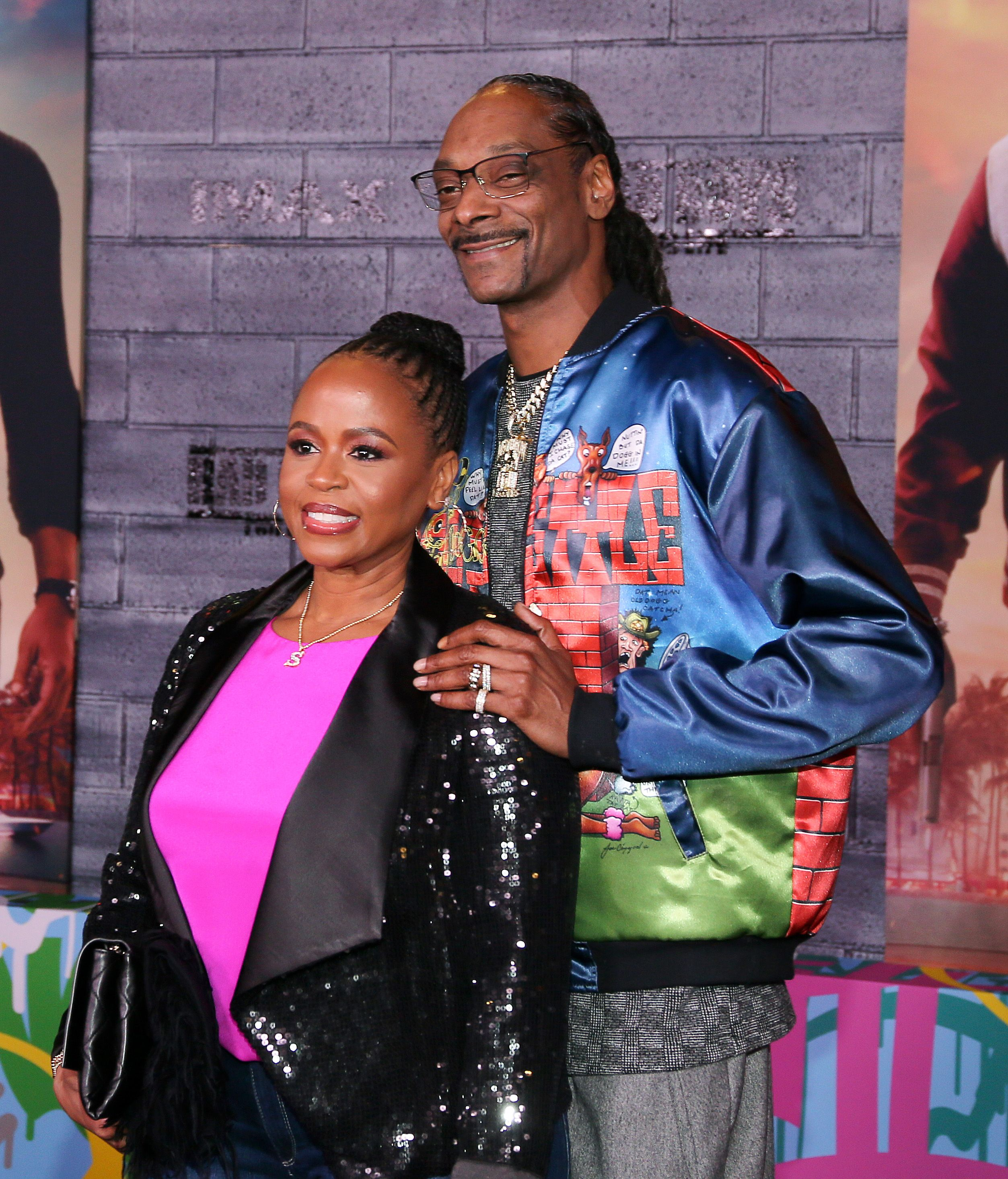 """Shante Broadus and Snoop Dogg at the world premiere of """"Bad Boys for Life""""  in Hollywood on January 14, 2020. 