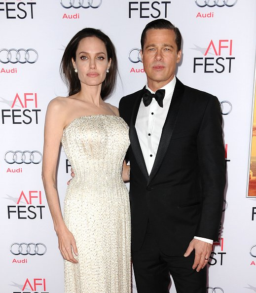 Angelina Jolie and Brad Pitt at TCL Chinese 6 Theatres on November 5, 2015 in Hollywood, California. | Photo: Getty Images