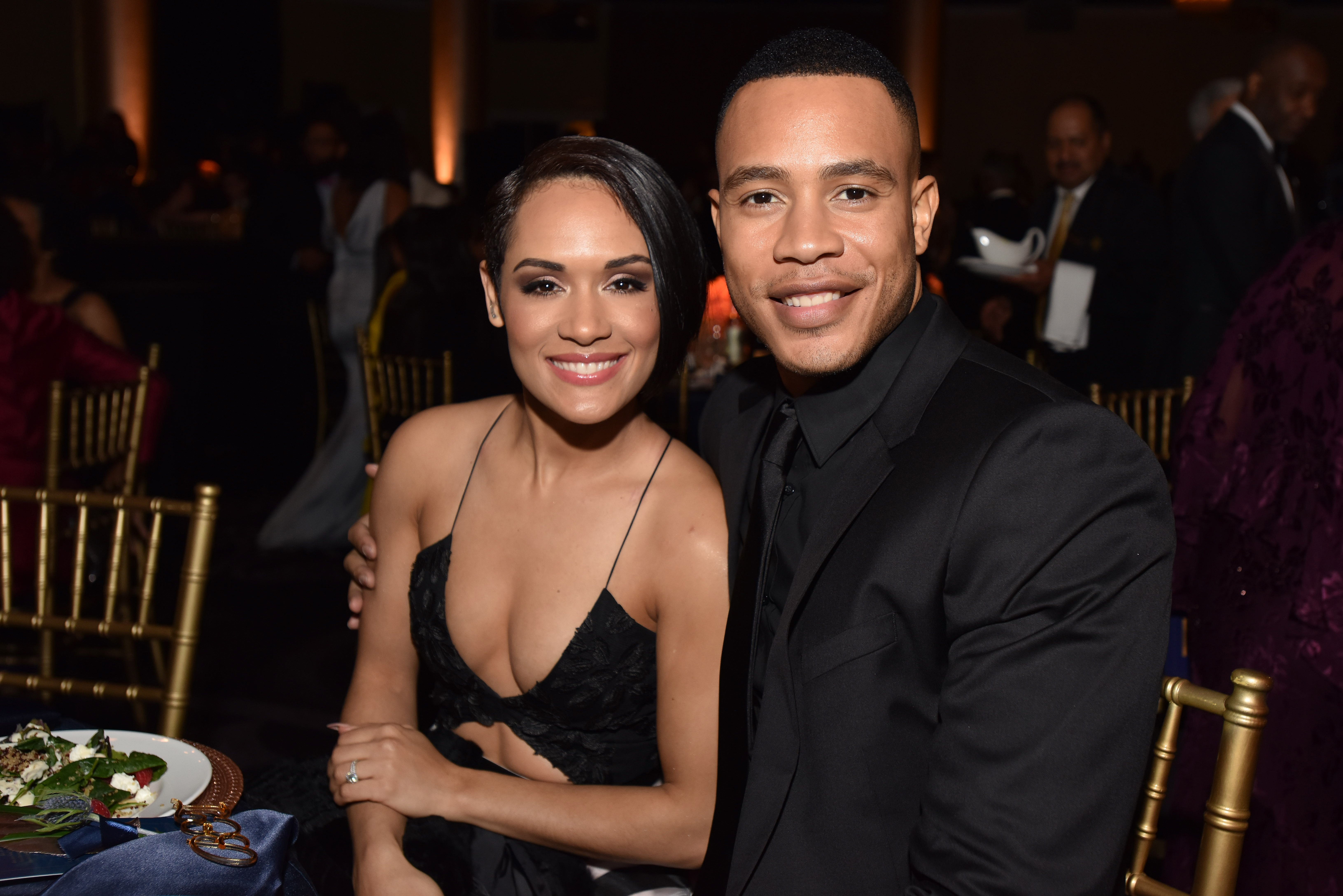 Grace Gealey & Trai Byers attend BET Presents the American Black Film Festival Honors on Feb. 17, 2017 in California | Photo: Getty Images