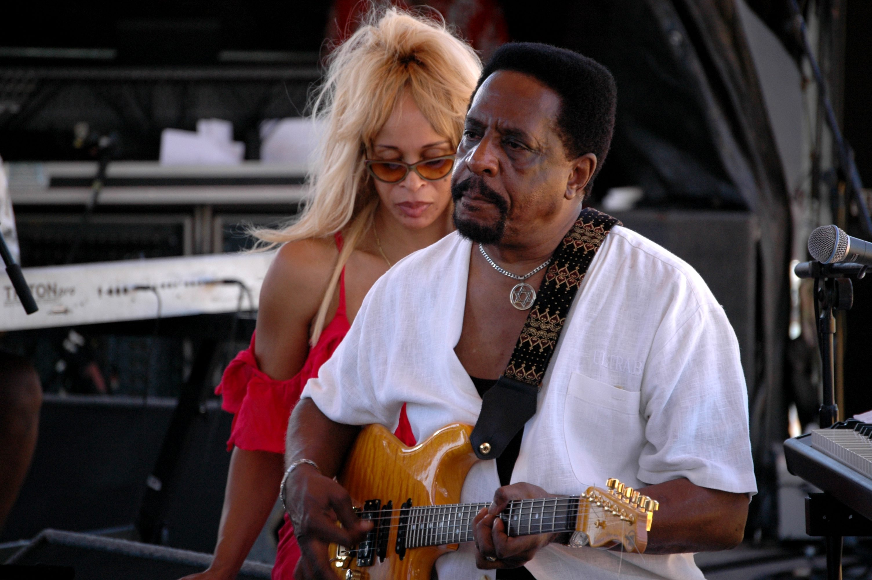 Ike Turner and Audrey Madison perform on stage at Koh Samui Festival, Thailand, September 2005.   Photo: GettyImages