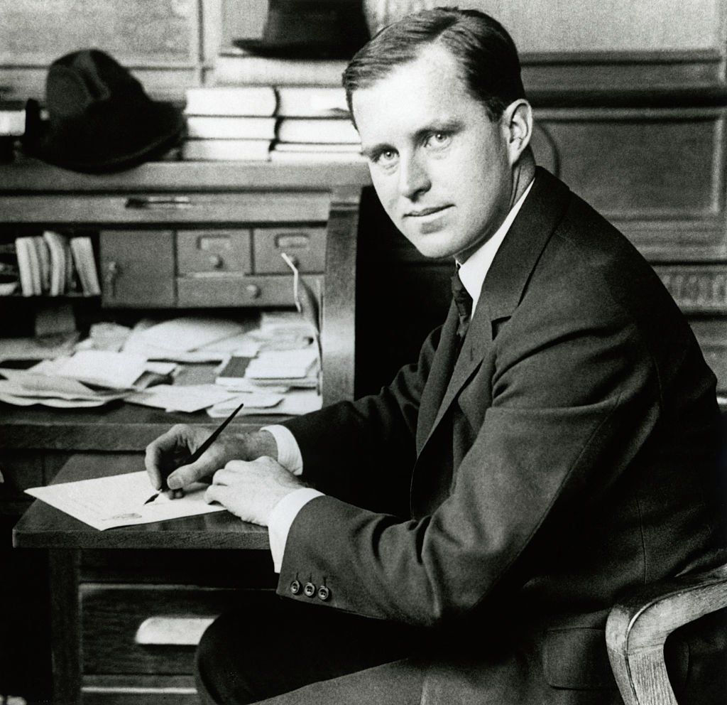 Joseph P. Kennedy at his job as President of Columbia Trust   Photo: Getty Images