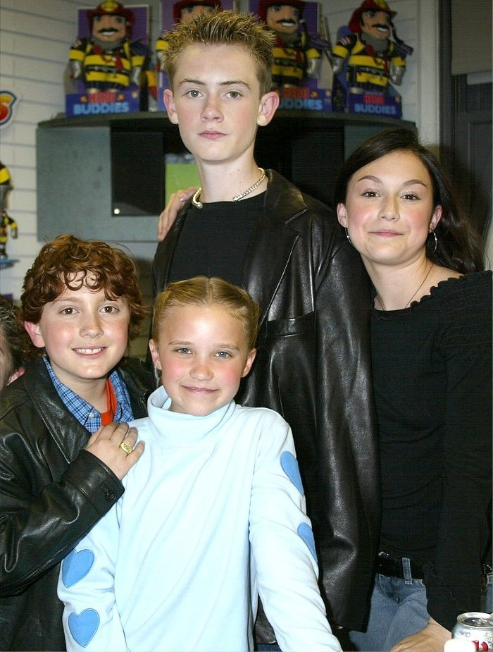 Actor Daryl Sabara, actress Emily Osment, actor Matt O''Leary and actress Alexa Vega at the International Toy Center in New York, 2002 I Image: Getty Images