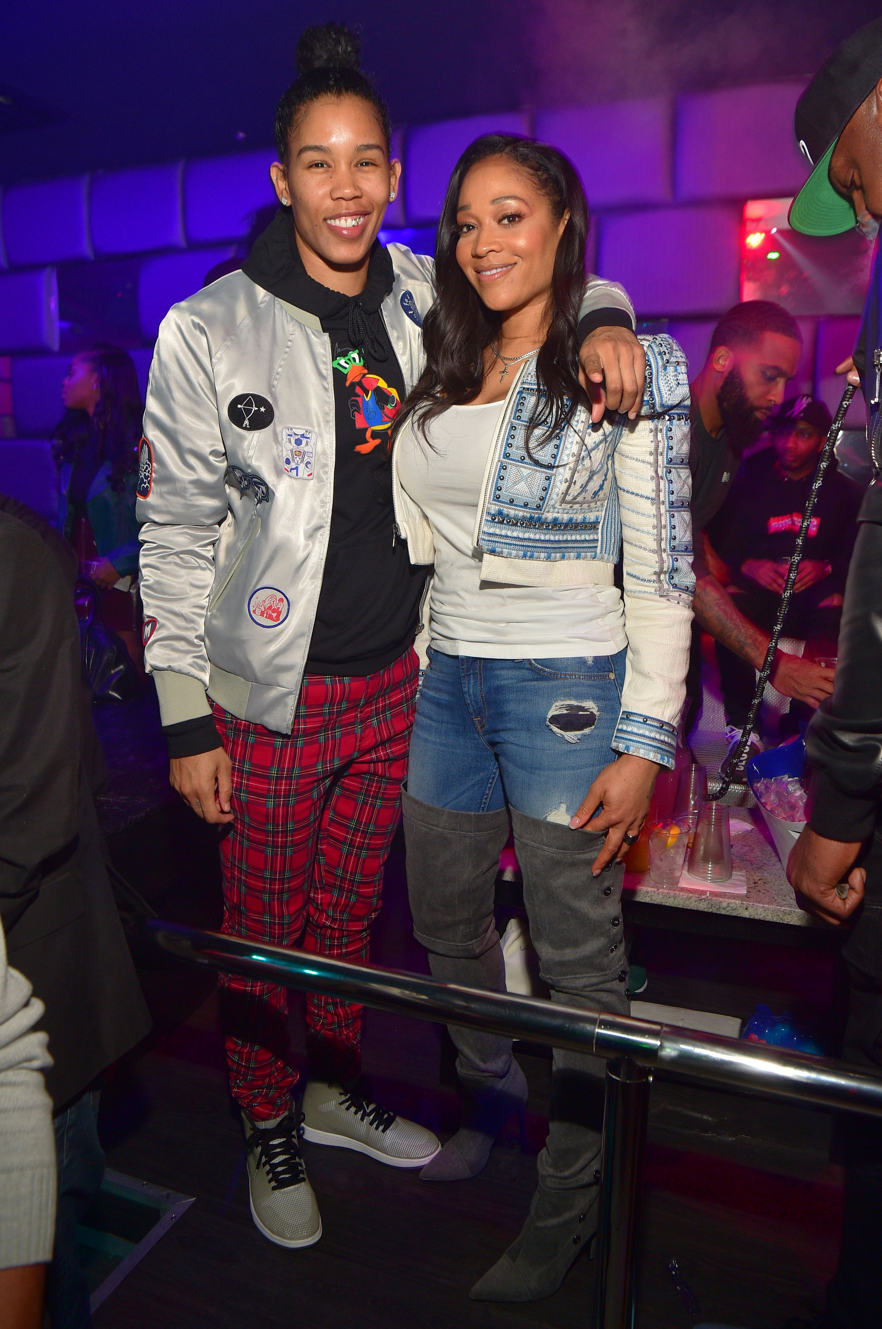 Tamera Young and Mimi Faust pictured at SL Lounge on January 21, 2018 in Atlanta, Georgia. | Source: Getty Images
