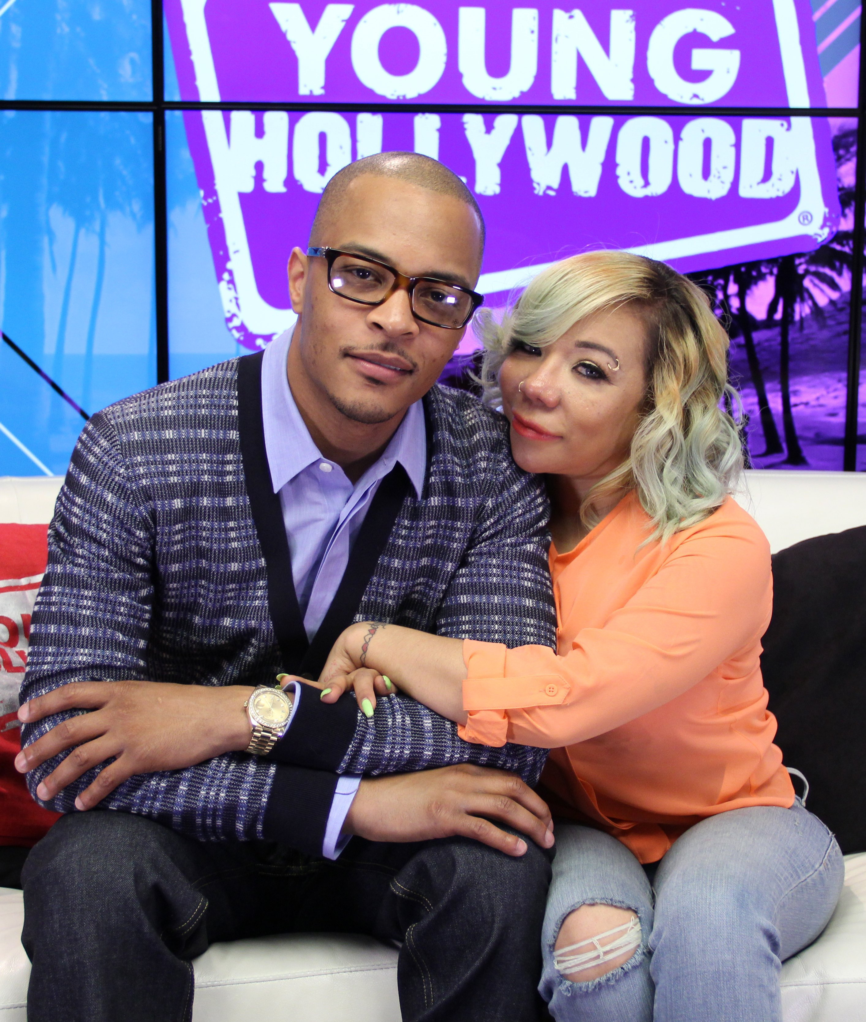 T.I. and Tiny at the Young Hollywood Studio on June 1, 2015.   Photo: GettyImages
