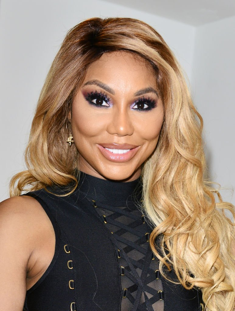 Singer / actress Tamar Braxton backstage after performing on stage during the 6th Annual Mother's Day Experience at James L Knight Center | Photo: Getty Images