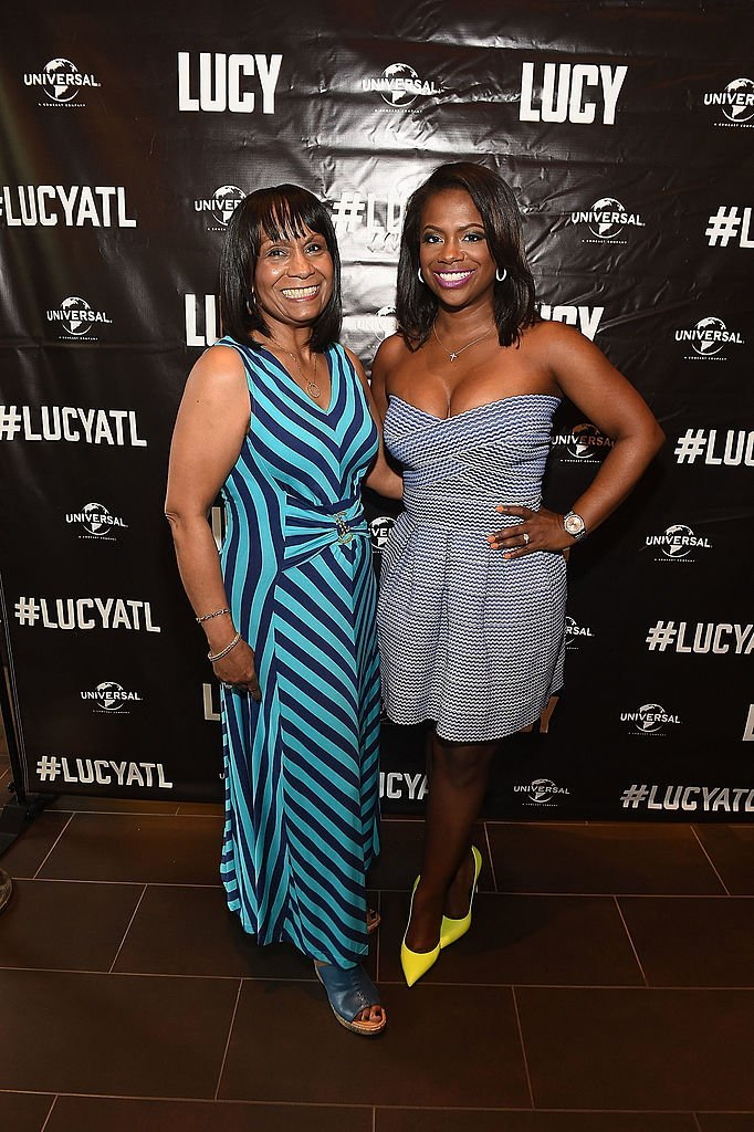 "Mama Joyce and her daughter Kandi Burruss at the screening of ""Lucy"" in July 2014. 