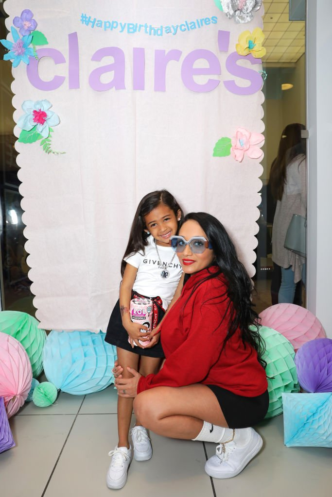 Nia Guzman and Royalty Brown attend a birthday party at the Glendale Galleria on March 24, 2019 in California. | Photo: Getty Images