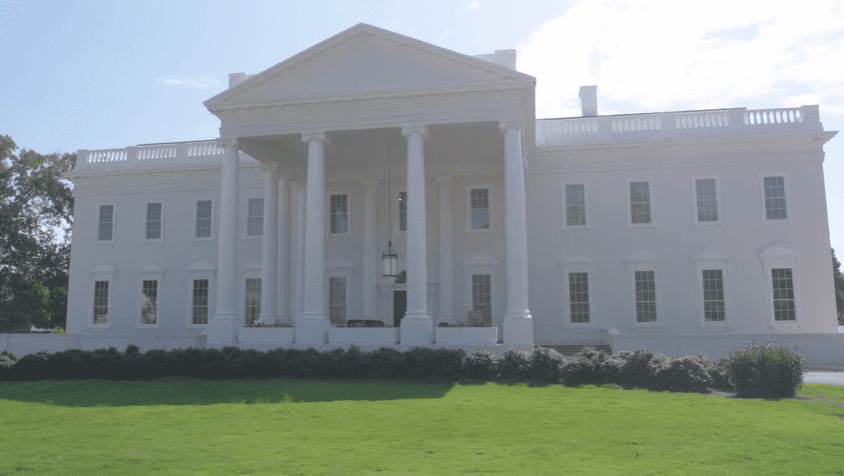 Replica of of the White House at Tyler Perry Studios| Source: YouTube/Architectural Digest
