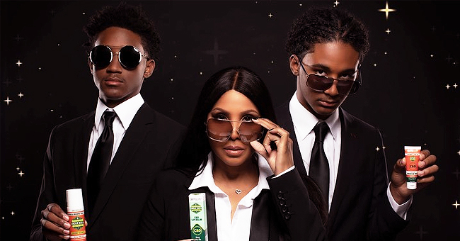 Toni Braxton & Sons Are M.I.B. Ready as They Promote Uncle Bud's Natural Hemp Products