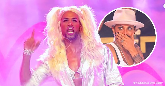 Boris Kodjoe stuns wife with his 'magical unicorn' outfit while performing on 'Lip Sync Battle'