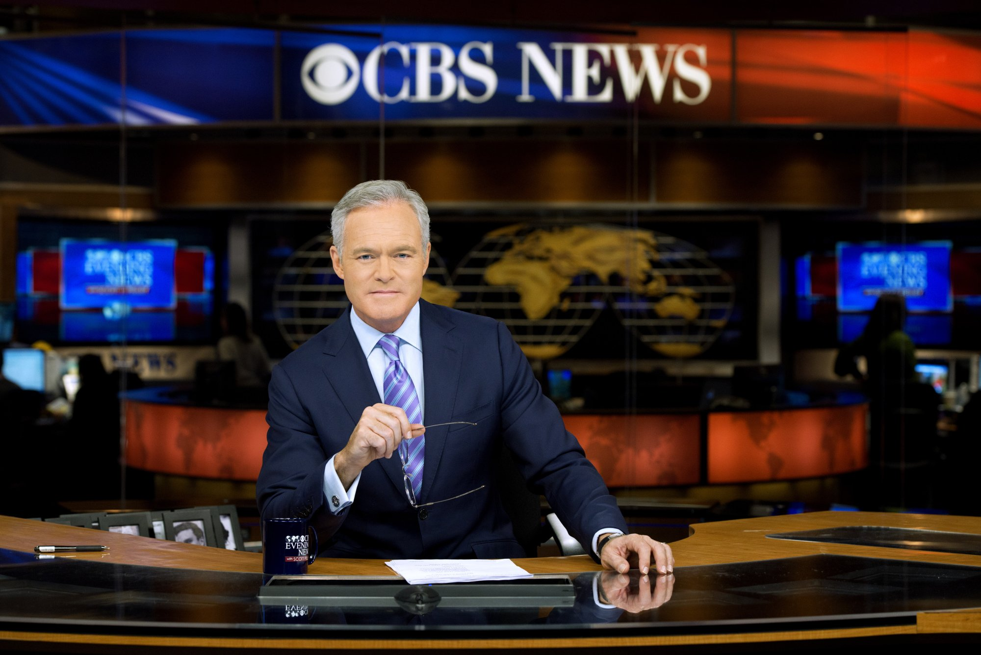 CBS Evening News Anchor and Managing Editor Scott Pelley in New York on January 17, 2014. | Source: Getty Images.