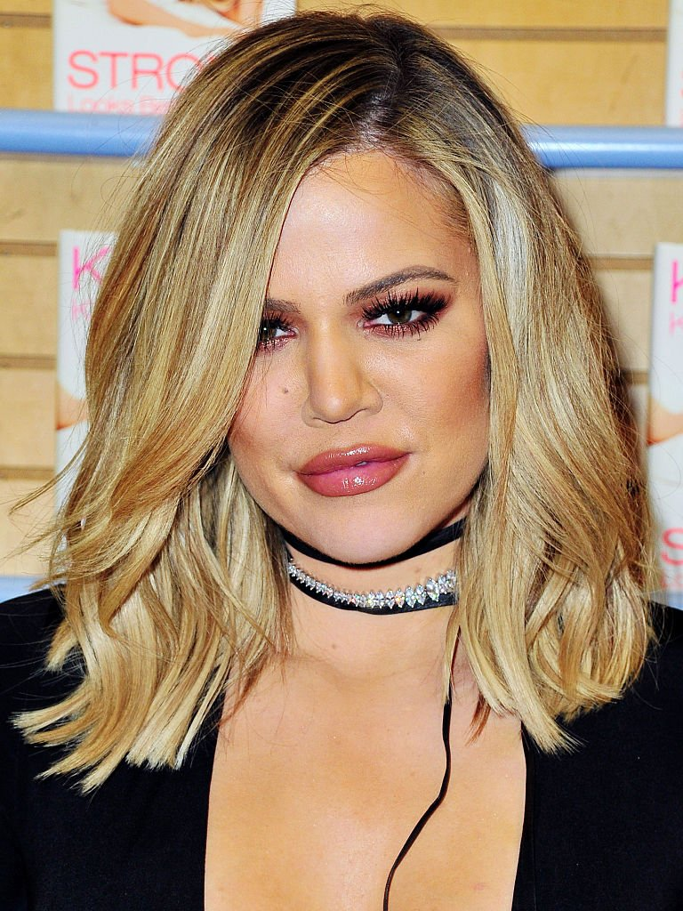 """Khloé Kardashian at Barnes & Noble to sign copies of her book """"Strong Looks Better Naked"""" on November 13, 2015. 
