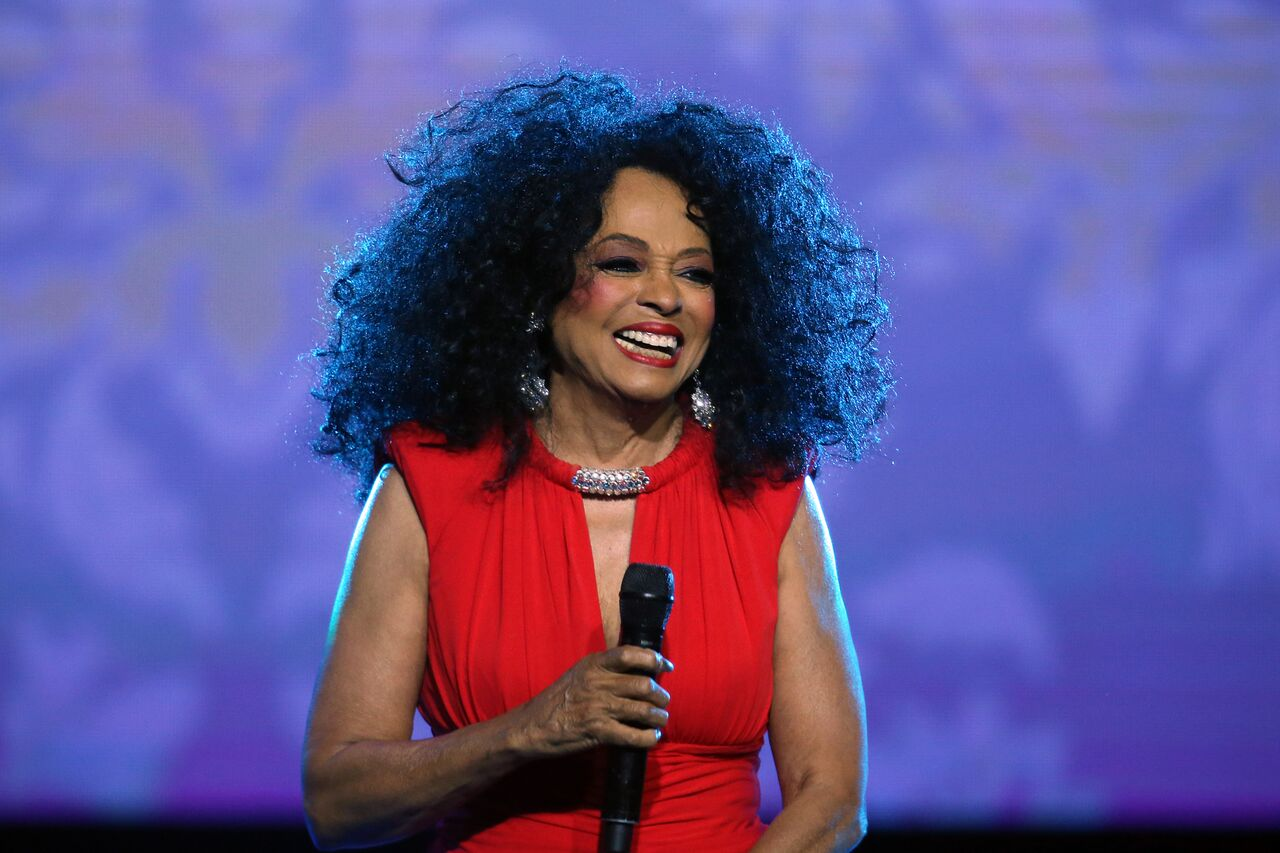Motown Diva DIana Ross at free World AIDS Day Concert in Dallas/ Source: Getty Images
