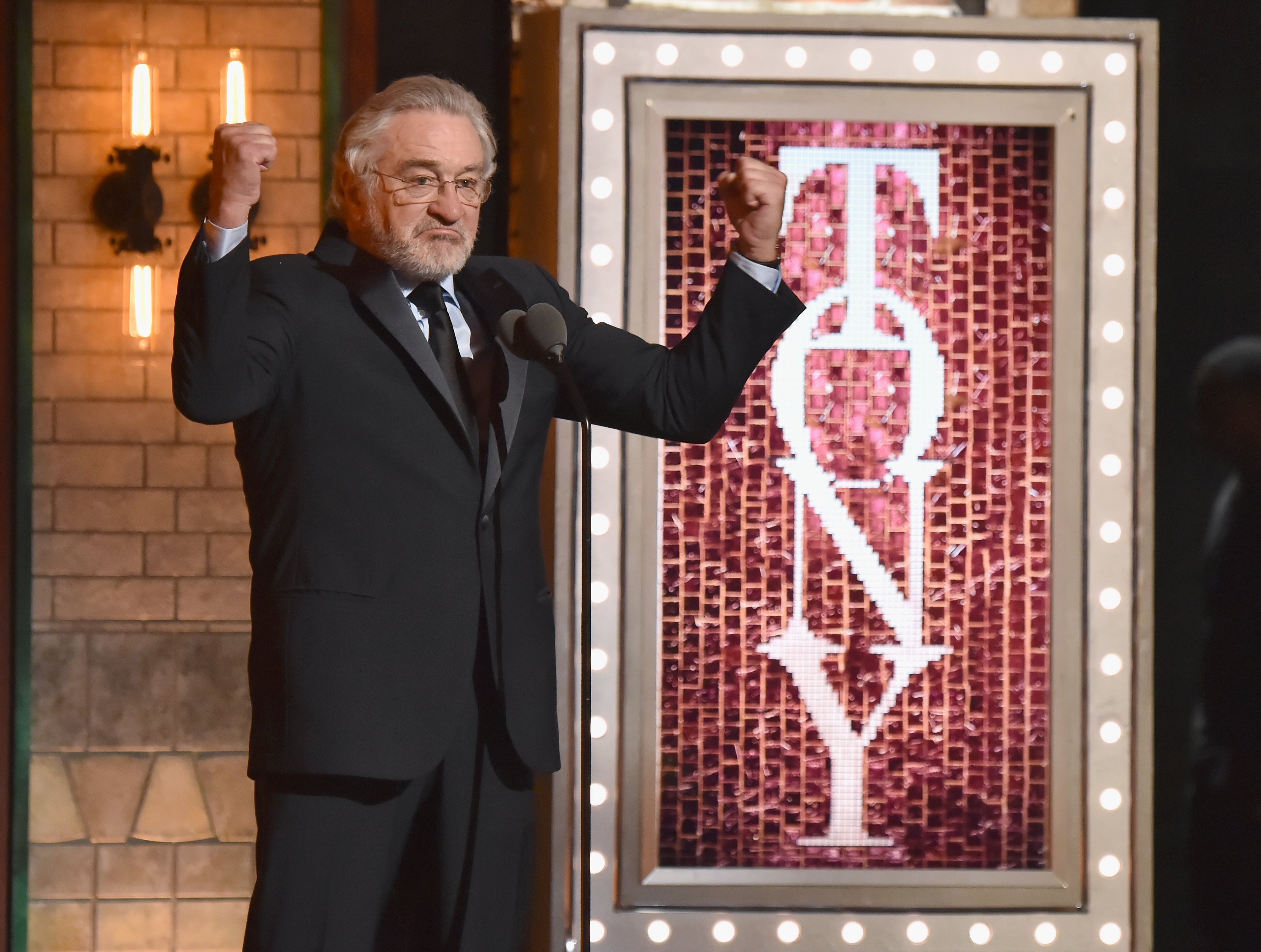 Robert De Niro speaks onstage during the 72nd Annual Tony Awards at Radio City Music Hall on June 10, 2018, in New York City. | Source: Getty Images.