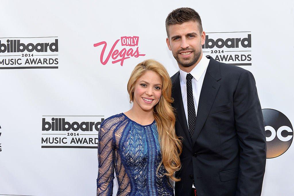 Shakira y Piqué en la alfombra roja de los Billboard Music Awards 2014.| Fuente: Getty Images
