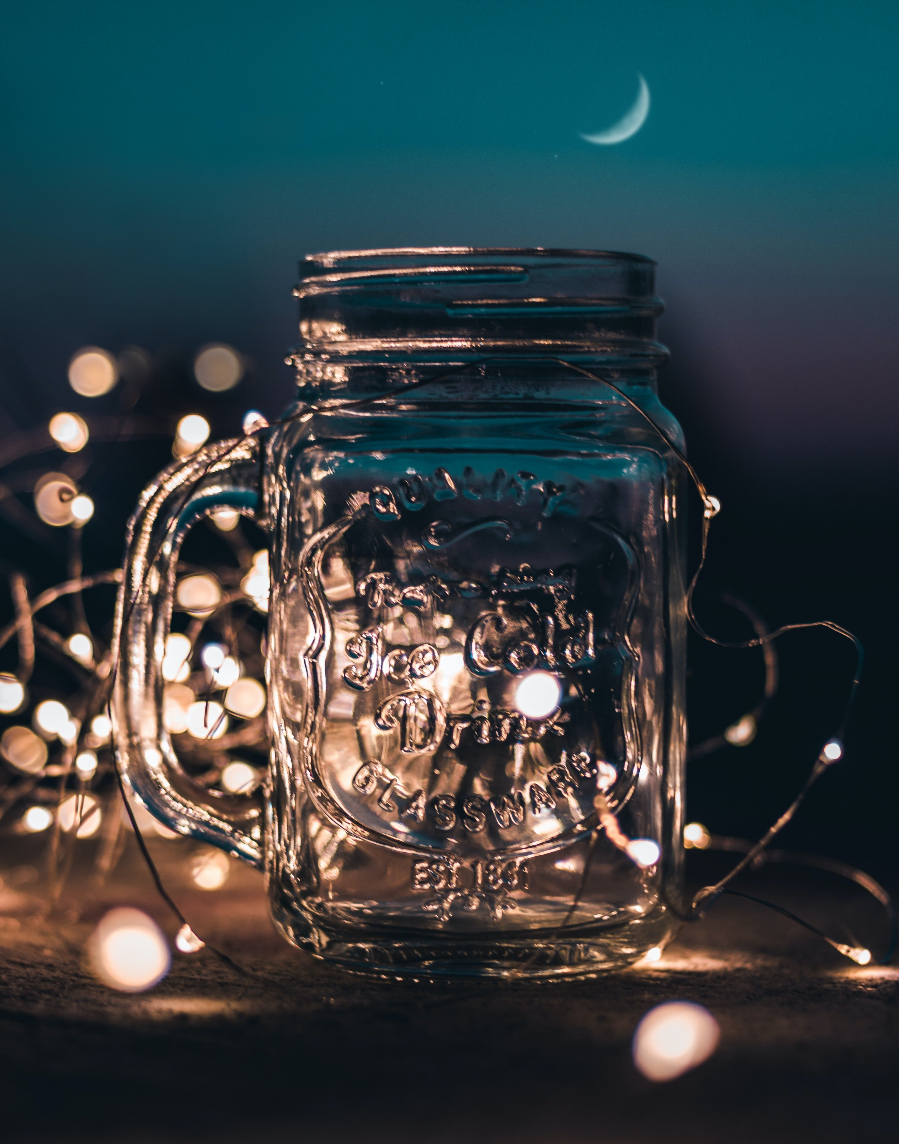 You can decorate a glass mug like this one with paint pens.   Photo: Pexels.