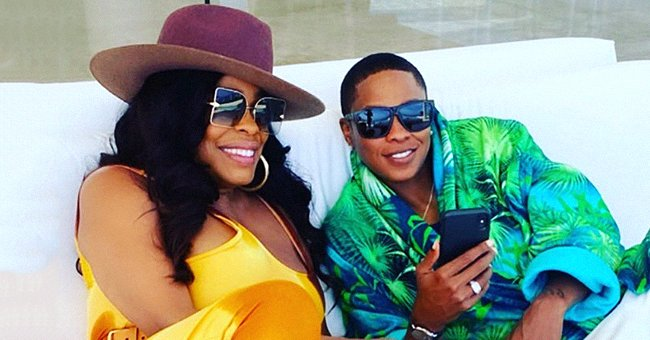 Niecy Nash Celebrates 1st Anniversary with Wife Jessica Betts While Wearing Sheer Pink Dress with Low Neckline