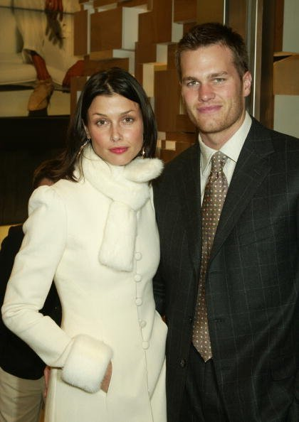 Bridget Moynahan and Tom Brady at Ermenegildo Zegna Flagship store on April 13, 2004 in New York City | Photo: Getty Images