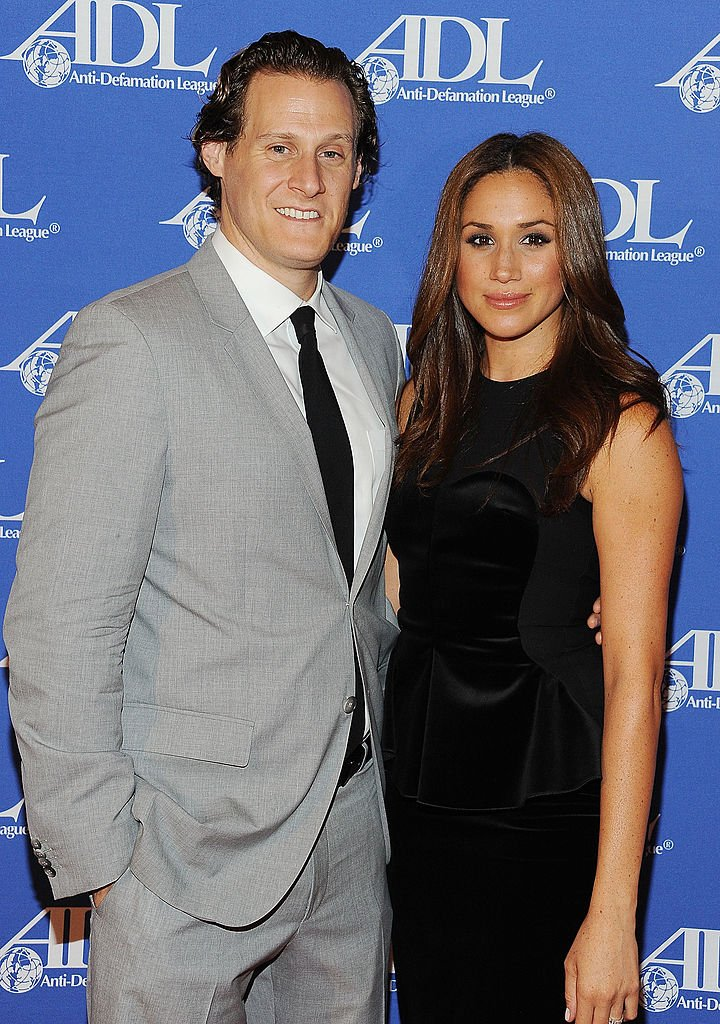 Meghan Markle and Trevor Engelson at the Anti-Defamation League Entertainment Industry Awards Dinner, October 2011   Source: Getty Images