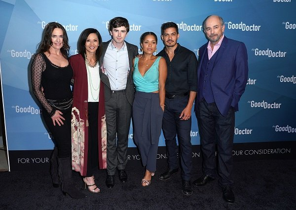 """Freddie Highmore and the cast of """"The Good Doctor"""" on May 22, 2018 in Culver City, California 