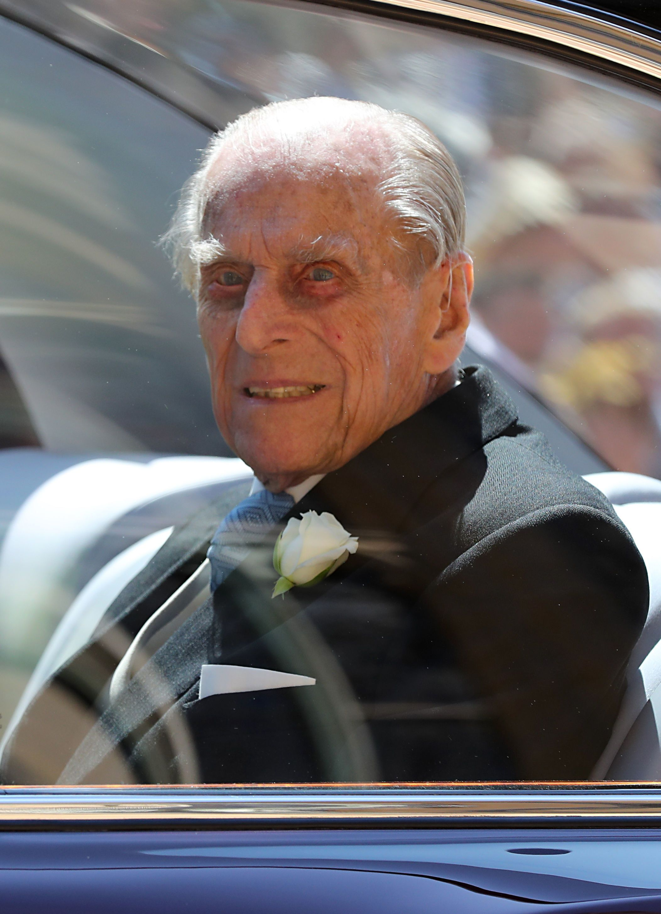 The late Prince Philip, Duke of Edinburgh, leaving St George's Chapel at Windsor Castle after the wedding of Prince Harry to Meghan Markle in Windsor, England | Photo: Gareth Fuller - WPA Pool/Getty Images