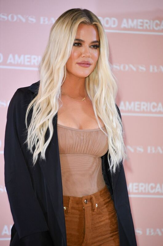Khloe Kardashian at a Good American event | Source: Getty Images/GlobalImagesUkraine