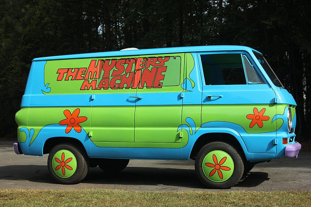 """A replica of Scooby-Doo's """"Mystery Machine"""" van owned by Fred. 
