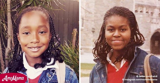 8-year-old girl goes viral by dressing up as the stunning Michelle Obama, and it's priceless
