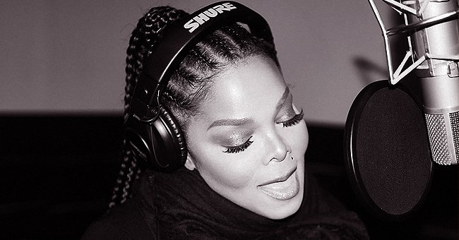 Janet Jackson Shared Black & White Photo of Herself at the Studio on Valentine's Day