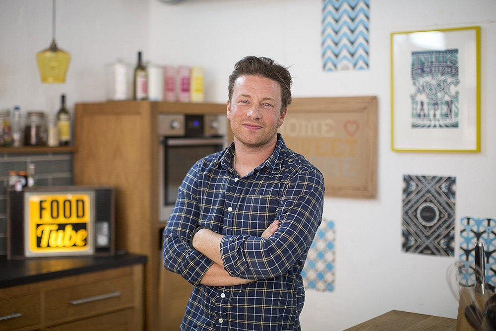 Chef Jamie Oliver at his office in London in 2014. I Image: Getty Images.