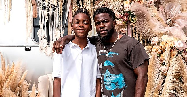 Watch Kevin Hart's Cool Son Hendrix Show His Boxing Skills Work Outing with a Coach in Home Gym